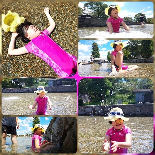 防災遊びの池