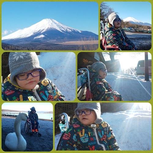 雪の山中湖