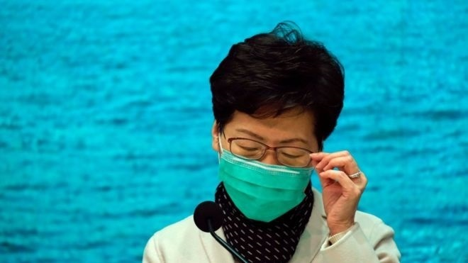 香港キャリーラム行政長官