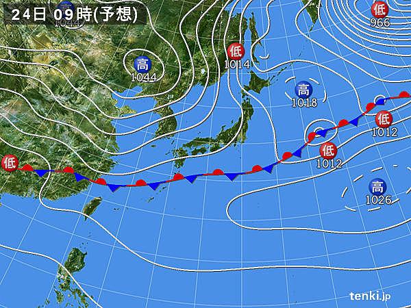 2020年1月24日9:00予想天気図