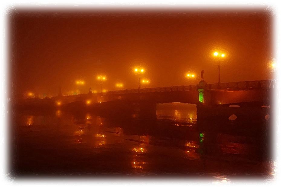 君に想いを架ける ── 霧に煙る幣舞橋