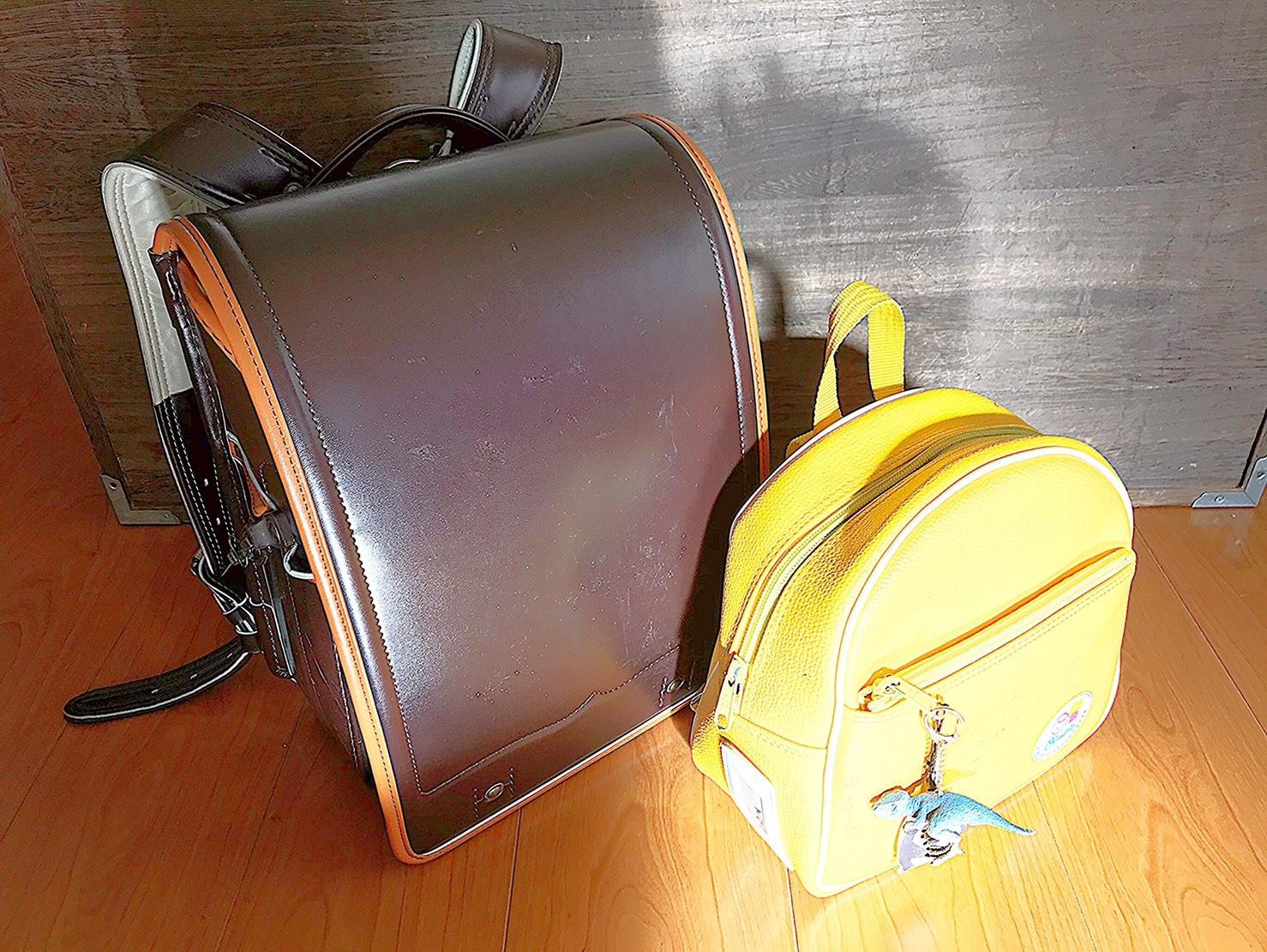 ランドセルと登園バッグ