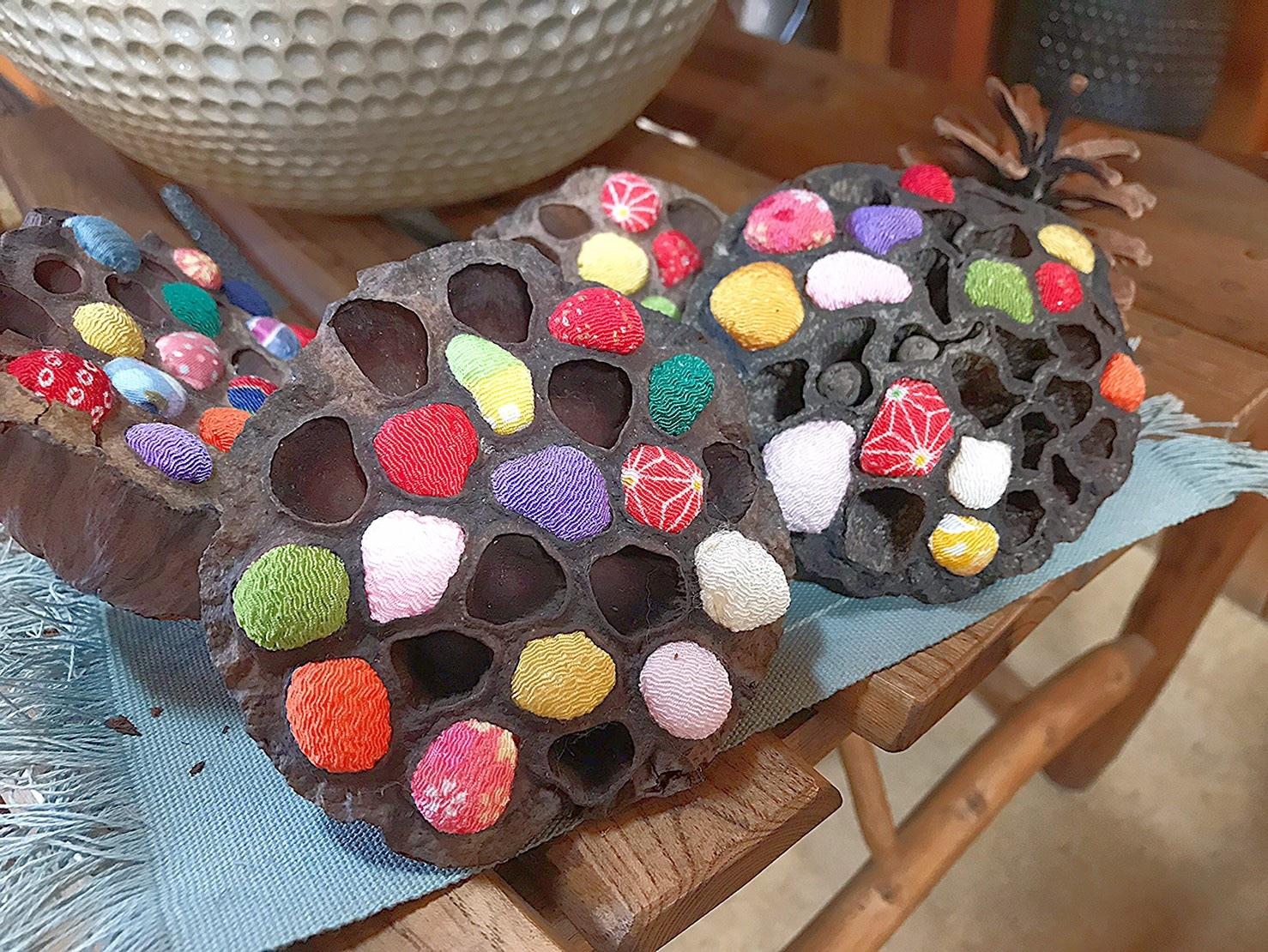 蓮の花托アート