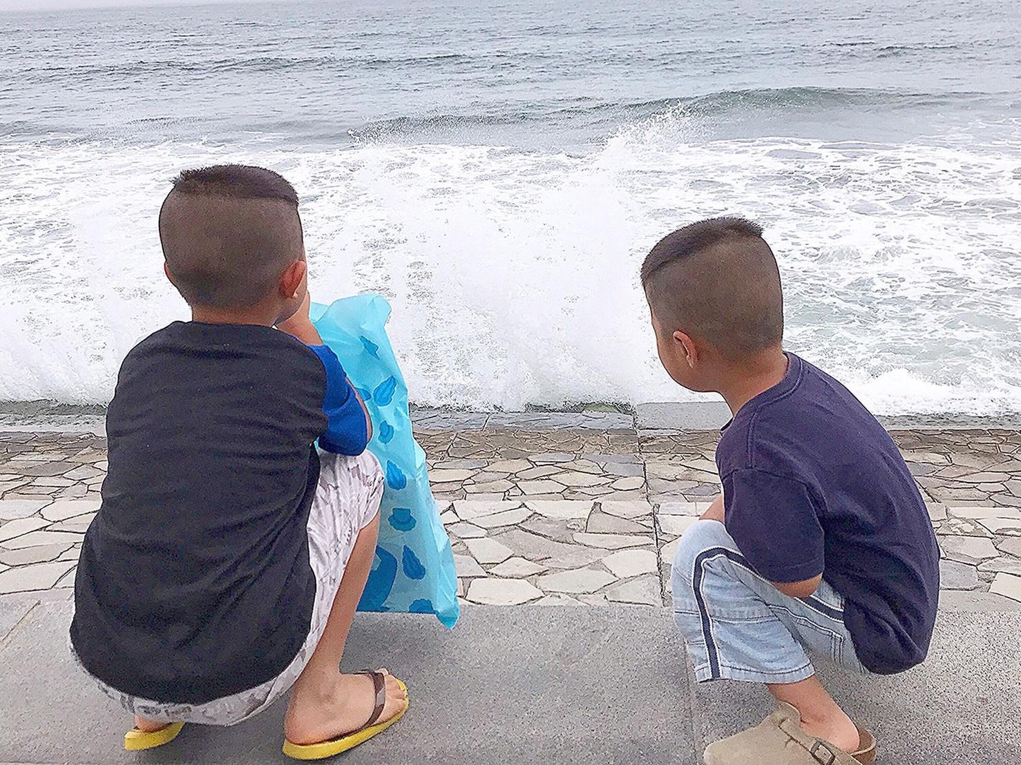 子ども達のモヒカン