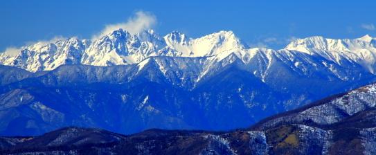 車山から望む穂高岳
