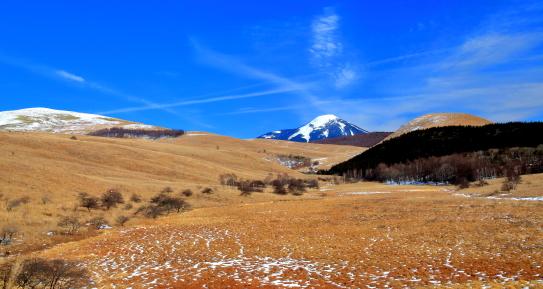 踊場湿原と蓼科山を彩る雲