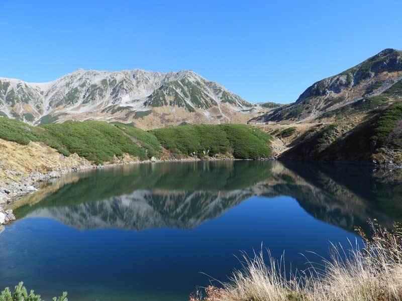 みくりが池に映る逆さ立山