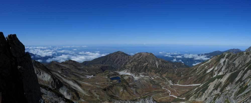 雄山山頂より富山県側パノラマ