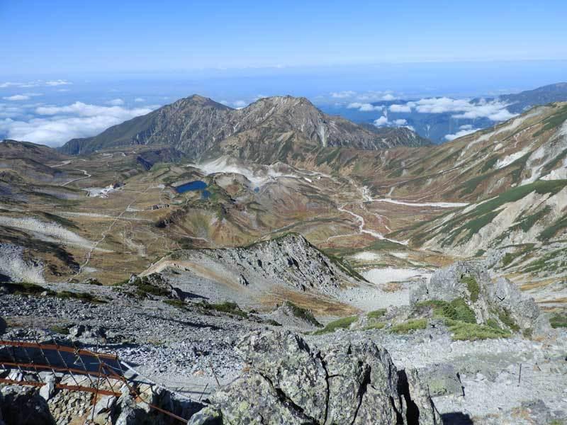 雄山山頂より富山県側の眺望