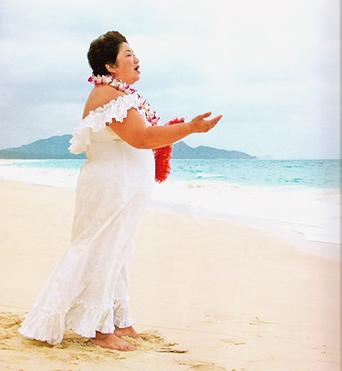 kumu karen on the beach