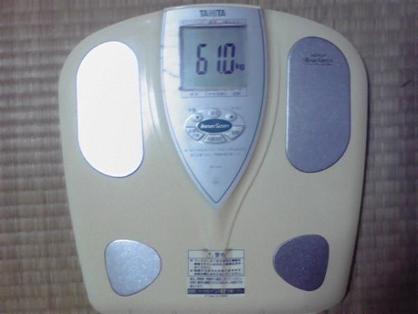 10月8日 定期体重測定