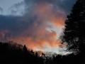 一瞬の夕焼