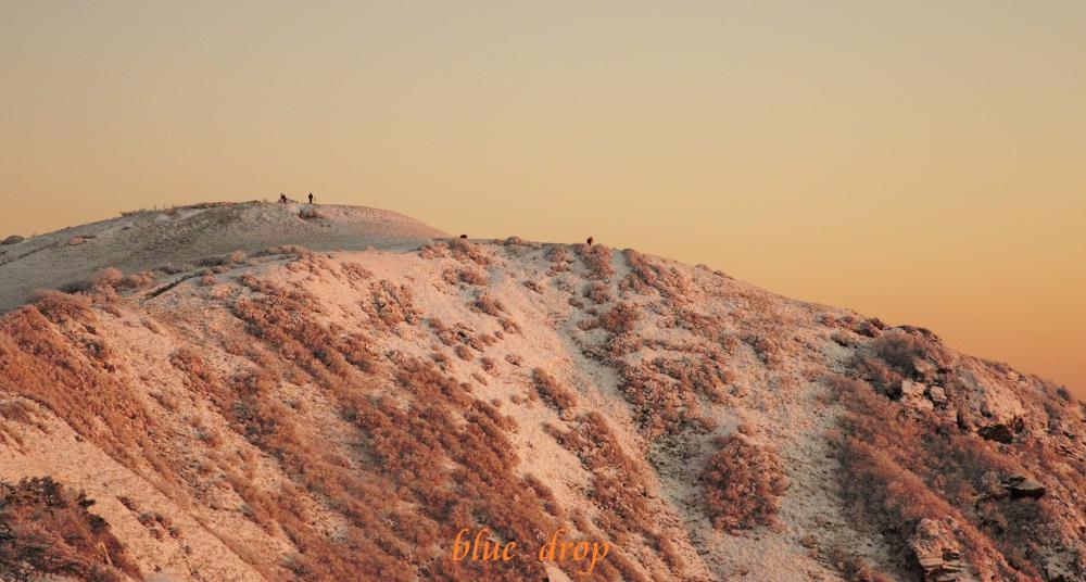 山に立つ人々