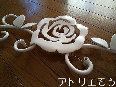 薔薇妻飾り 。錆に強いアルミ製妻飾り。