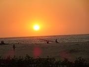 P2019919、海岸からの夕陽