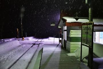 天塩川温泉駅2020冬(1)