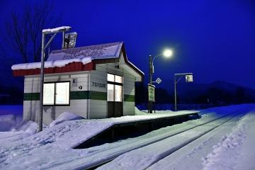 天塩川温泉駅2020冬(3)