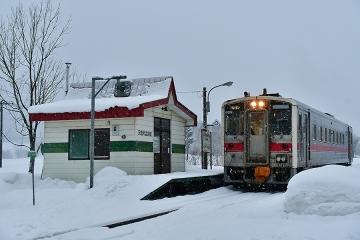 天塩川温泉駅2020冬(4)