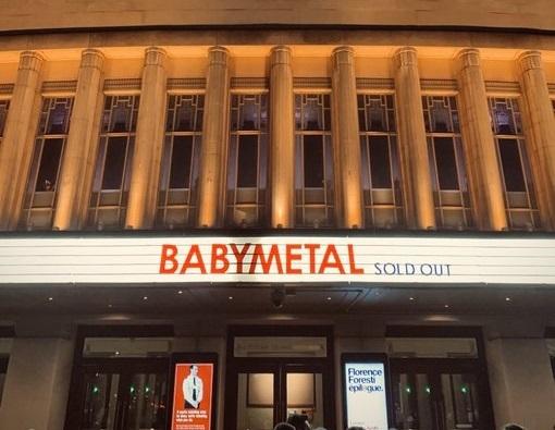 BABYMETAL ロンドン公演のセットリストと開始前の様子
