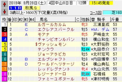 19秋風S