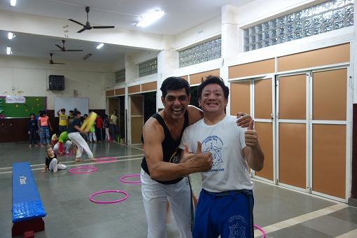 こちらがCentre For Capoeira IndiaのトップのProfessor Baba