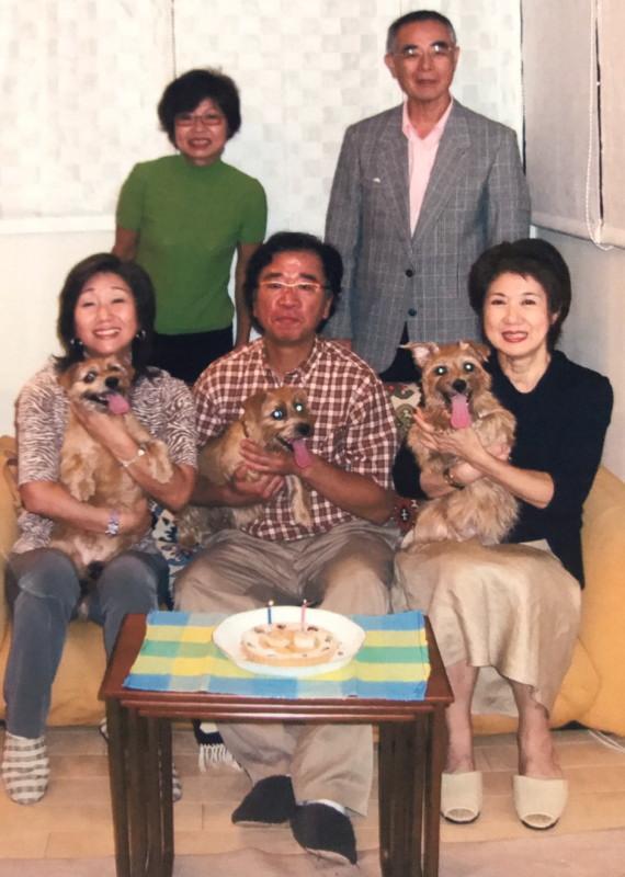 長田勝彦先生と三世代のショット