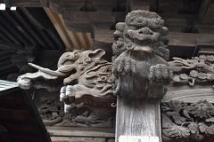 不動堂木鼻彫刻