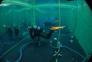 ダイビングプールで浮力チェック (1)
