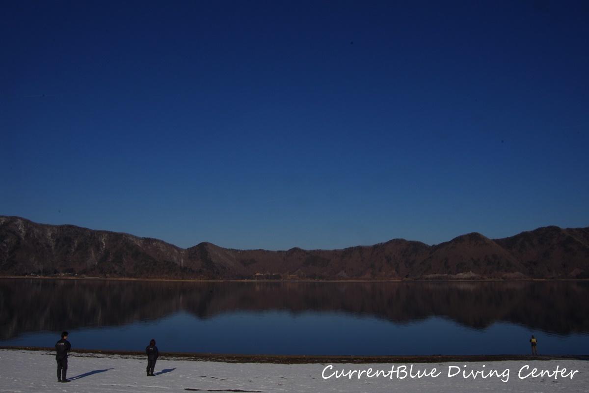 冬本栖湖ダイビング (1)