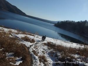 本栖湖冬ダイビング,本栖湖2月 (1)