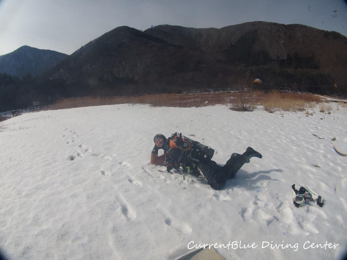 本栖湖冬ダイビング,本栖湖2月 (6)
