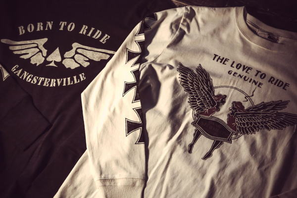 GANGSTERVILLE LOVE TO RIDE-L/S T-SHIRTS