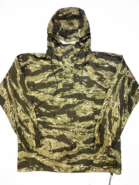 INTERFACE TIGER CAMO NYLON PULLOVER PARKA