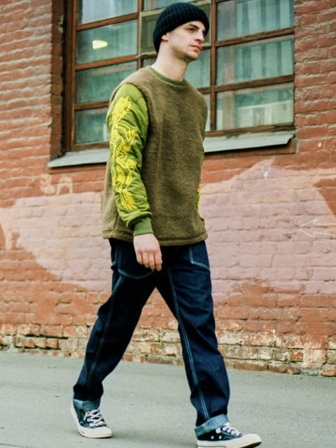 SOFTMACHINE RISE&FALL BOA LINNER SMITH PANTS