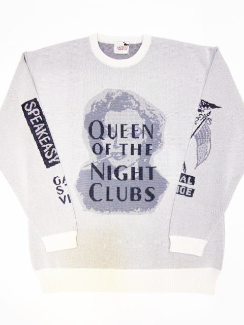 GANGSTERVILLE QUEEN OF THE NIGHT CLUBS-L/S KNIT SWEATER