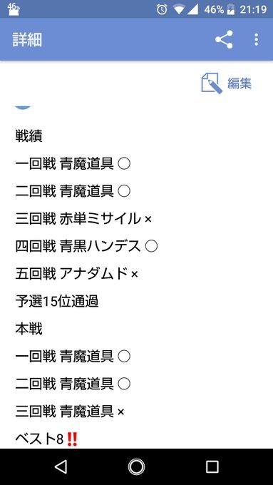 第29回DM岡山駅前CSベスト8 赤緑モルトNEXT サクラさん 戦績