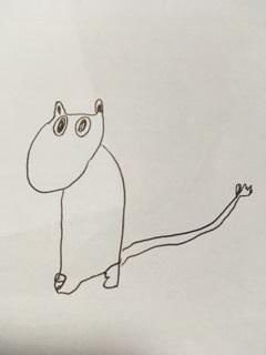 ムーミン尻尾