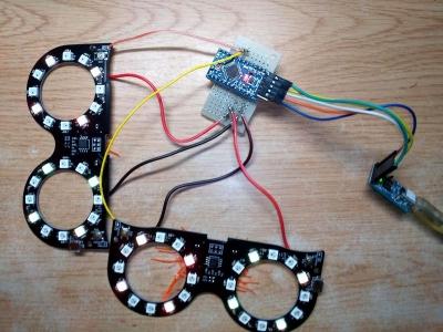エモグラス二個並列テスト