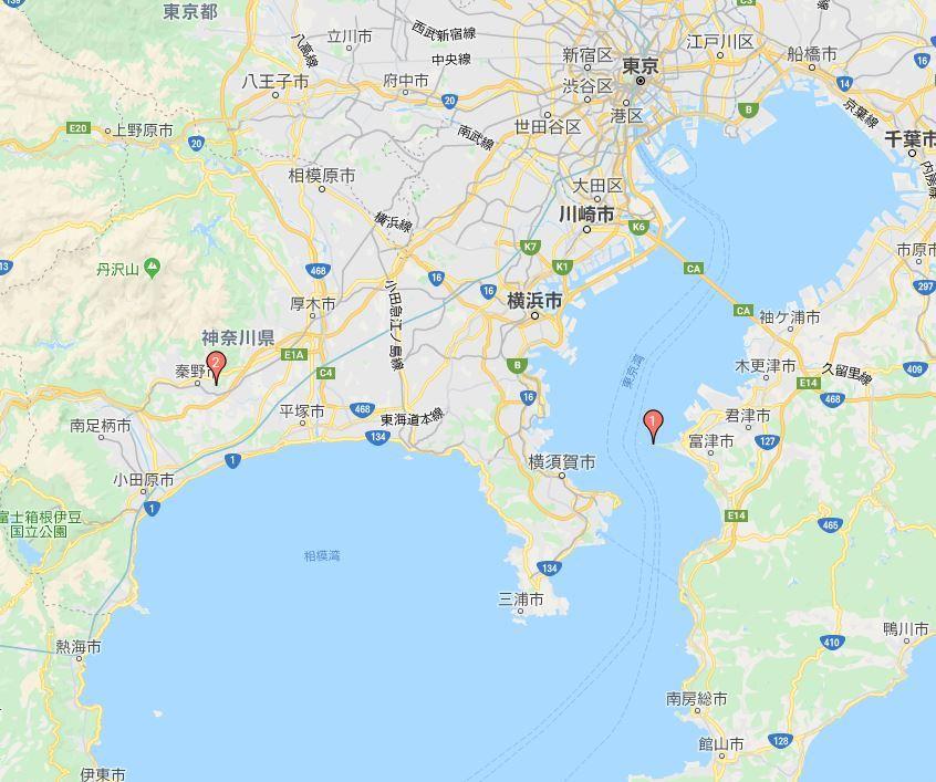 富津岬と権現山