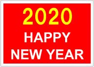 2020年ハッピーニューイヤーのポスター