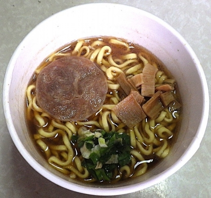 10/1発売 サバ6製麺所監修 サバ醤油そば(できあがり)