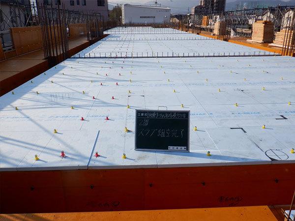 2019/10/08 2階床型枠工事完了