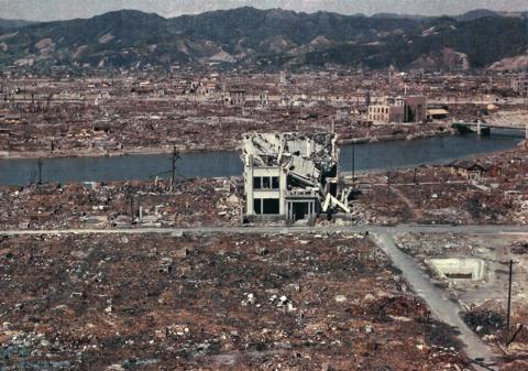 Hiroshima aftermath NARA_1Bombings of Hiroshima and Nagasaki - 1945 Atomic Heritage