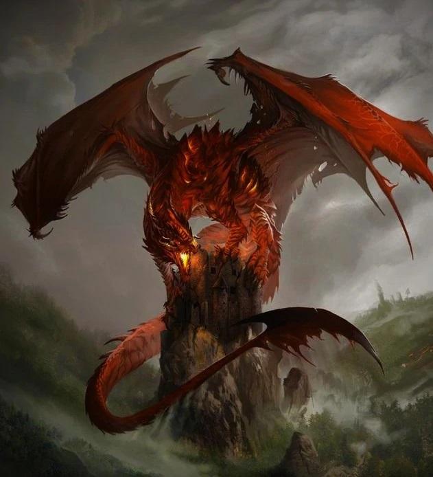 3430a69e76d7490269fb0d665ab43cba--fantasy-creatures-mythical-creatures1紅龍
