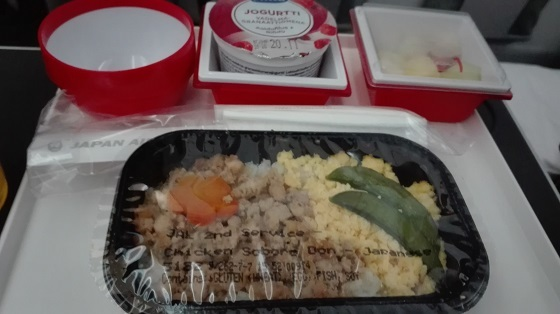 JALプレミアムエコノミー、食事