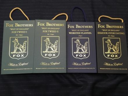 FOXBROTHERS社のFOXTWEED(フォックスツイード)やEXMOOR-OVERCOATING(エクスムーアオーバーコーティング)