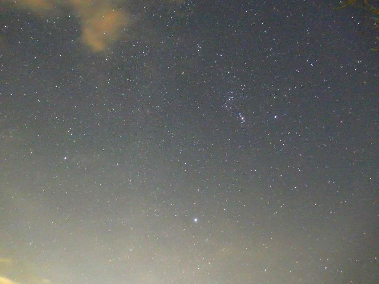 冬の大三角1月18日ベテルギウスはまだ暗い?