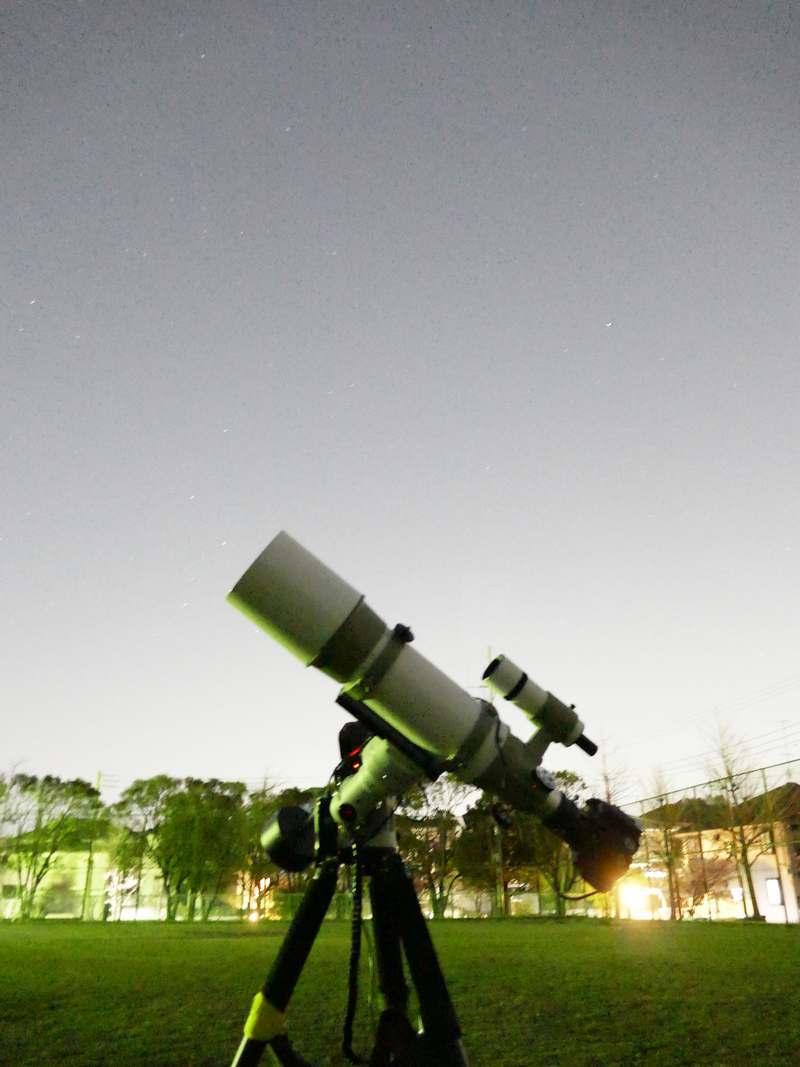 公園撮り2020年2月 北極星が見える…ギリ…
