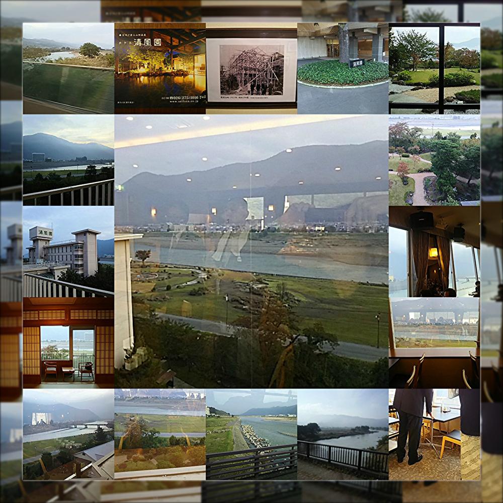 千曲川の眺望(清風園)