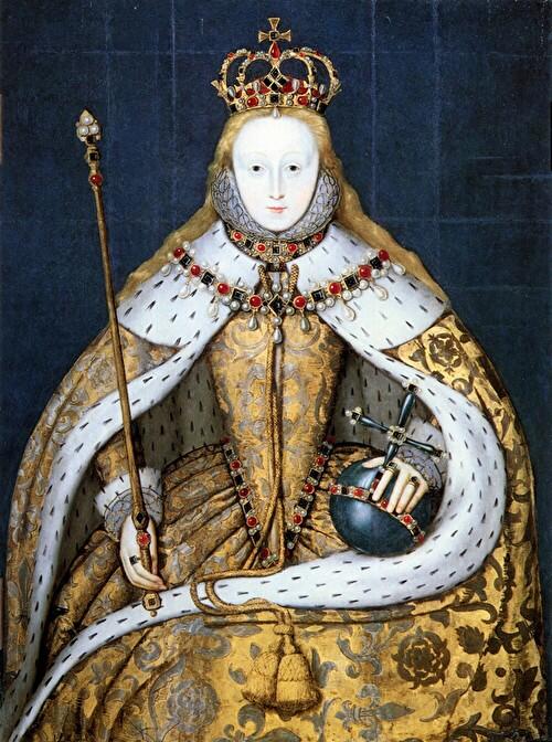 即位衣を纏うエリザベス1世